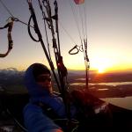 Flug in den Sonnenuntergang am Bannwaldsee